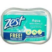 Zest Soap, Refreshing, Aqua with Vitamin E, Travel Size Bar