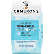 Camerons Coffee, Course Ground, Cold Brew Blend, Vanilla Hazelnut