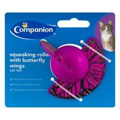 Companion Cat Toy Squeaking Roller With Butterfly Wings