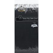 First Street Table Cover, Tissue-Poly, Black Velvet, 3-Ply