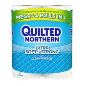 Quilted Northern Ultra Soft & Strong® Toilet Paper, 6 Mega Rolls, Bath Tissue