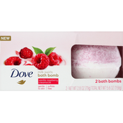Dove Bath Bombs, Milk Swirls, Vanilla Raspberry Creamsicle