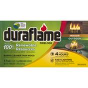 Duraflame 6lb 100% Renewable 4-hr Firelogs - 4pk