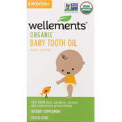 Wellements Baby Tooth Oil, Organic, 4 Months+
