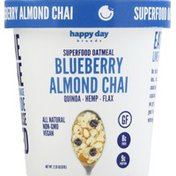 Happy Day Brands Oatmeal, Superfood, Blueberry Almond Chai