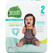 Seventh Generation Diapers, 2 (12-18 lbs)