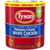 Tyson Premium Chunk White Chicken Breast, Twin Pack