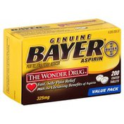 Bayer Pain Reliever/Fever Reducer, 325 mg, Coated Tablets, Value Pack