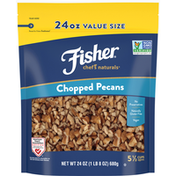 Fisher Pecans, Chopped, Value Size