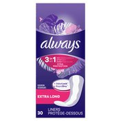 Always Xtra Protection 3-in-1 Daily Liners, Extra Long