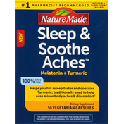 Nature Made Sleep & Soothe Aches, Vegetarian Capsules