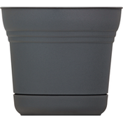 Bloem Planter, Saturn Charcoal, 7 Inches