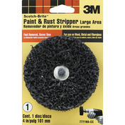 3M Paint & Rust Stripper, Large Area, 4 Inch