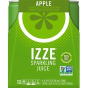 Izze Sparkling Juice Apple, aluminum cans