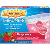 Emergen-C Immune+ Fizzy Drink Mix Packets Raspberry, Immune+ Fizzy Drink Mix Packets Raspberry