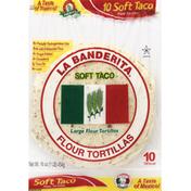 La Banderita Tortillas, Flour, Large, Soft Taco