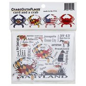 Crabs Outa Flags Card and a Crab