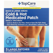 TopCare Back & Large Areas Cold & Hot Menthol 5% - Topical Analgesic Large Medicated Patches