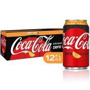 Coca-Cola Orange Vanilla Zero Sugar Diet Soda Soft Drink