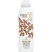Australian Gold Sunscreen, Botanical, Natural Spray, Broad Spectrum SPF 50