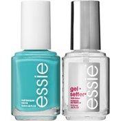 Essie In the Cab-ana Polish & gel.seter Top Coat Gel-Like Color & Shine Kit