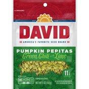 DAVID Seeds Pumpkin Pepitas Green Chili With Lime