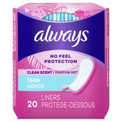 Always Thin No Feel Protection Daily Liners Regular Absorbency Scented