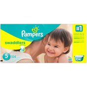 Pampers Swadlers Pampers Swaddlers Diapers Size 5 104 count Diapers