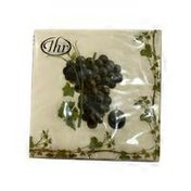 Ideal Home Range Grape Harvest Red Wine Theme Printed 3 Ply Paper Cocktail Napkin