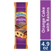 Marinela Napolitano Orange Snack Cakes with Raisins and Chocolate Frosting