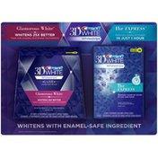 Crest 3D White Whitestrips Glamorous White/1 Hour Express Variety Pack 36 pc Dental Whitening Kit