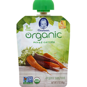 Gerber Baby Food, Organic, Mixed Carrots