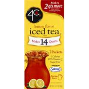 4C Foods Iced Tea Mix, Lemon Flavor, Pitcher Pack