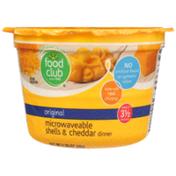 Food Club Original Microwaveable Shells & Cheddar Dinner