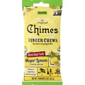 Chimes Ginger Chews, Meyer Lemon, Original