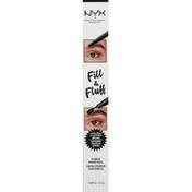 NYX Professional Makeup Eyebrow Pencil, Pomade, Fill & Fluff, Black