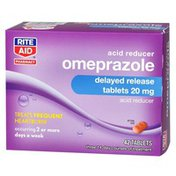 Rite Aid Omeprazole Capsules, 20mg Delayed Release Tablets - 42 ct