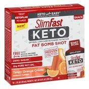 Slimfast Fat Bomb Shot, Gluten Free, Tangy Orange Creme