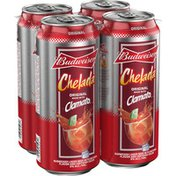 Budweiser Chelada with Clamato, Salt and Lime, Beer Cans