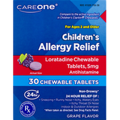 CareOne Children's Allergy Relief Chewable Tablets Grape