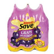Always Save Artificially Flavored Grape Fruit Drink