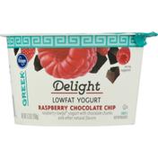 Kroger Yogurt, Low Fat, Raspberry Chocolate Chip, Delight, Greek