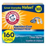 Arm & Hammer Powder Laundry Detergent, Clean Burst, 160 Loads