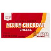 Market Pantry Cheese, Cheddar, Medium