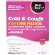 Best Choice Cold & Cough High Blood Pressure Tablets