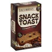 Jacobsens Toast, Snack, Cinnamon Raisin, Box