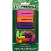 Ticonderoga Noir Erasers, Multi-Pack