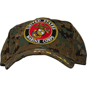 Eagle Emblems Cap, USMC, Camo, with Logo
