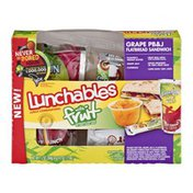 Lunchables with Fruit Flatbread Sandwich Grape PB&J