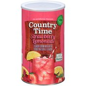Country Time Sugar-Sweetened Strawberry Lemonade Powdered Soft Drink